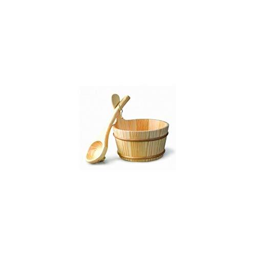 Desineo Kit seau et louche en bois pour sauna 4L 95