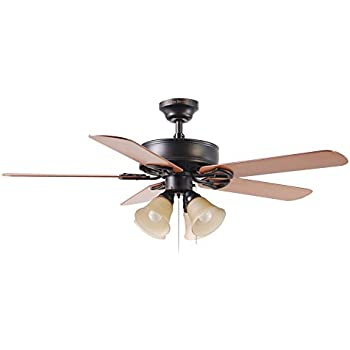 Harbor breeze springfield ii 52 in antique bronze downrod or flush harbor breeze springfield ii 52 in antique bronze downrod or flush mount ceiling fan with aloadofball Image collections