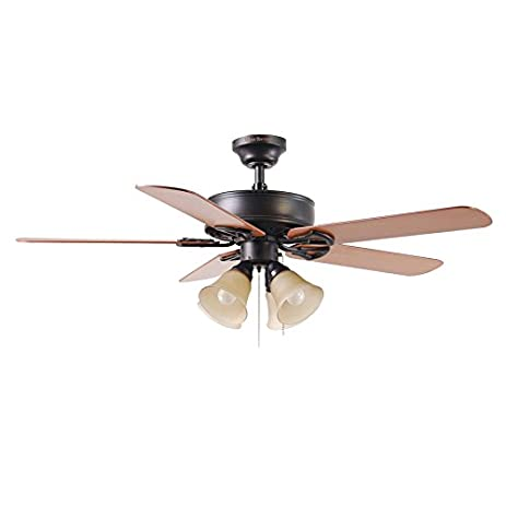harbor breeze springfield ii 52in antique bronze downrod or flush mount ceiling fan with