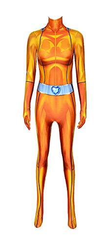 Totally Spies Alex Costume Adult Spy Bodysuit Women Halloween Cosplay Suit L