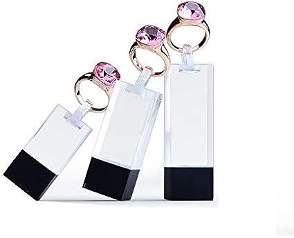 Jewellery Displays 3cm, 4cm /& 5cm Height Diamond Black Set of 3 Ring Stands