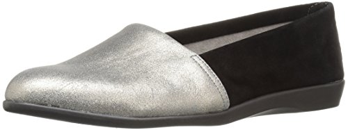 Aerosoles Women's Trend Setter Slip-On Loafer, Silver Combo, 5 M US