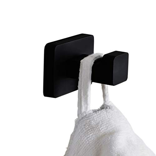 Marmolux Acc Coat Towel Robe Hook Single Square Wall Mount Clothes Holder Bathroom Accessories Stainless Steel Matte ()