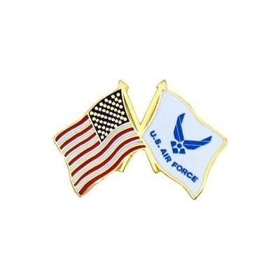 New US Flag / Air Force Modern Logo Flag Lapel Pin or Hat Pin for cheap