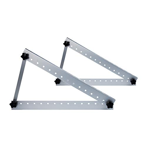 Air Jade Angle Adjustable Solar Panel Tilt Mount Brackets, Aluminum Alloy Light Weight&Heavy Duty,Grid Tie or Off Grid,22inch Brackets Supports up to 100W