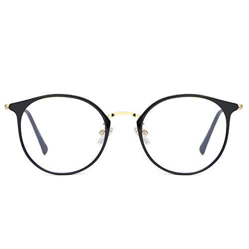 DUCO Superlight Blue Light Blocking Computer Reading Video and Gaming Eyewear Glasses,Anti Blue Light 100% UV Protection W013 (Black)