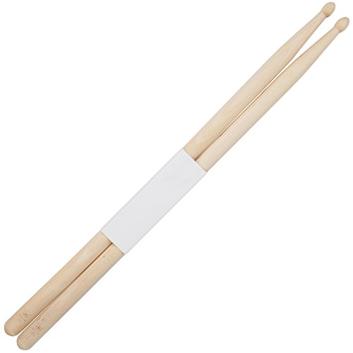 Troll 5B Maple Drumsticks With Laser Engraved Design - Durable Drumstick Set With Wooden Tip - Wood Drumsticks Gift ()