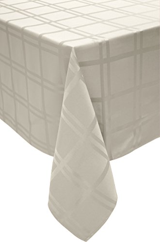 """Cuisinart Spill-Proof Rectangular Formal Tablecloth, 70 by 144"""", Ivory"""
