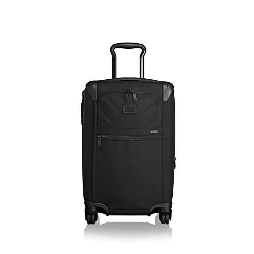 TUMI - Alpha 2 & Alpha 3 Expandable International 4 Wheeled Carry-On Luggage - 22 Inch Rolling Suitcase - Black