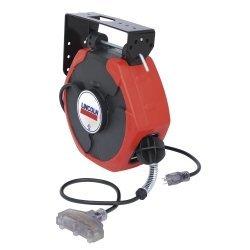 LIN91029Lincoln lubrication 50'Heavy Duty prolunga avvolgicavo con illuminato T-TAP