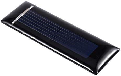 Cuasting 10 Stueck Solar Panel neue 0.5V 100mA Solarzellen Photovoltaik Modul Sonnenkraft Ladegeraet DIY 53 * 18 * 2,5 mm