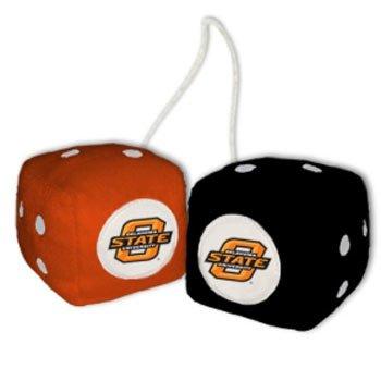 Fremont Die Oklahoma State Cowboys NCAA 3 Car Fuzzy Dice