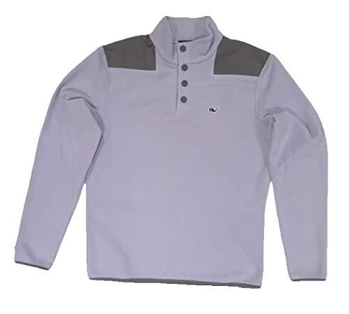 Vineyard Vines Men's Snap Fleece Barracuda Pullover Sweater (Medium, Barracuda)