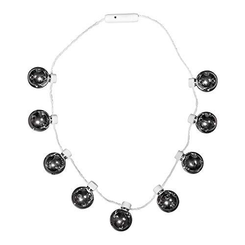 LED Light Up Disco Ball Necklace Party Favor -