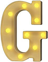 YOUZONE LED Marquee Letters LED Letter Lights Alphabet Light Up Sign Decoration Letters A - Z Symbol & for