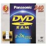 Panasonic 3x DVD-RAM Double-Sided Media (LM-AD240LU3)
