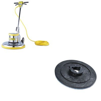 KITBWKPPP20MFMPRO21 - Value Kit - Boardwalk Plastic Pad Holder/Drive Block (BWKPPP20) and Pro-175 Series Super Heavy-Duty Floor Buffer Machine, 21quot; (MFMPRO21)