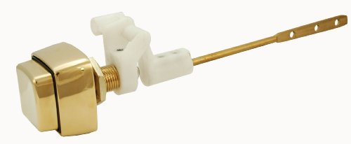 Toilet Tank Lever, Push-button Type, Polish Brass Finish, By Plumb USA