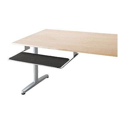 IKEA SUMMERA - extraíble Bandeja para teclado, color plata
