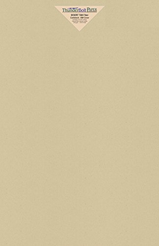 - 25 Desert Tan Fiber Finish Cardstock Paper Sheets - 11 X 17 inches Tabloid|Ledger|Booklet Size – 80 lb/Pound Cover|Card Weight 216 GSM - Natural Fiber with Darker Specks - Slightly Rough Finish