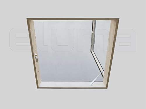 Claraboya Apertura lateral 48x72 Base x Altura Ventana para tejadoCLASSIC LIBRO Tragaluz por el acceso al techo//Doble vidrio//Tapajuntas incluido