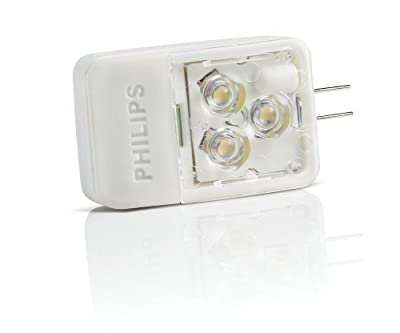 Philips 418392 3-Watt (20-Watt) AccentLED T3 Desk and Cabinet G4 Base 12-Volt Light Bulb