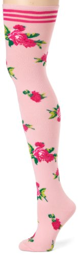 Betsey Johnson Womens Mexicali Rose Thigh High Tight, Blush, One Size