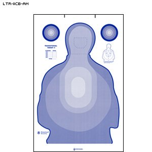 US AIR MARSHALS MODIFIED CARDBOARD TRANSTAR TARGET 100 PACK by Law Enforcement Targets