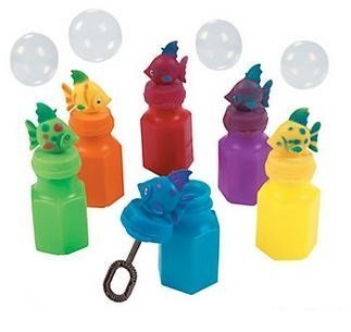 Tropical Fish Bubble (Tropical Fish Bubble Bottles-Indoor-Outdoor-Party Favors - 12 Assorted Tropical Fish Bubble)