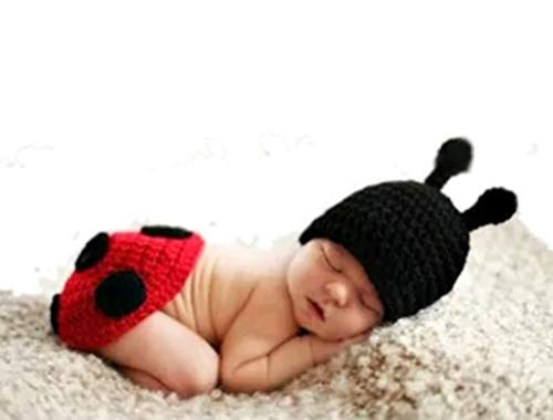 770 Home Newborn Baby Boy and Girl Photoshoot Costume Knit Crochet Hat and Pants Outfits, ()
