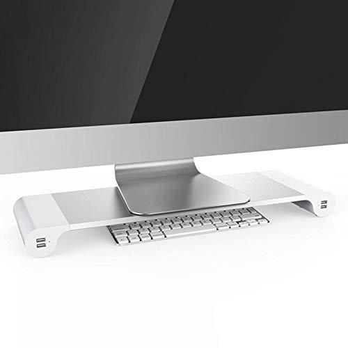 lzndeal Aluminium Alloy Base Holder Smart 4 USB Port Charger Stand for PC Desktop Laptop,Laptop Stand,Supporto per Laptop,Supporto per Laptop in Alluminio