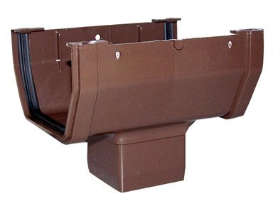 (GENOVA PRODUCTS RB104 Gutter Drop Outlet Brown)
