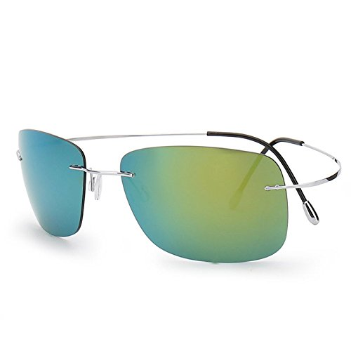 VIPASNAM-100% Titanium Rimless Sunglasses Polaroid Gafas Men Polarized Sun - Sunglasses Roial Dos