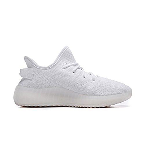 Week-end Boost 350 V2 Hommes Femmes Mesh Respirant Chaussures Tissées Baskets Mode Casual Chaussures Fitness Course Unisexe Blanc