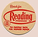 Vintage Reading Brewing Company Reach For Reading Premium Paperboard Coasters - Set of 4 - Two Different Designs
