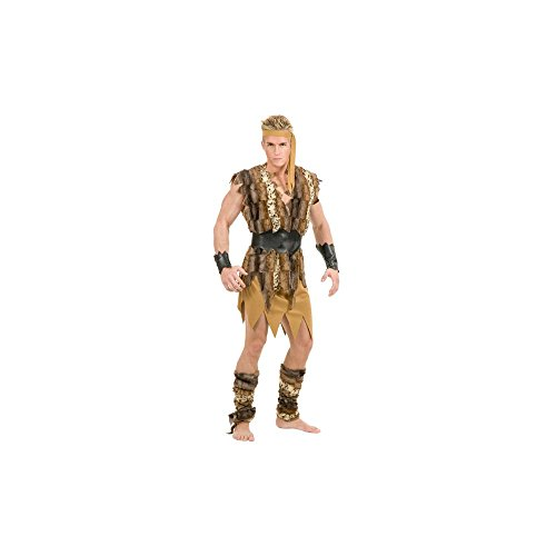Cave People Costume - Cool Caveman Adult Costume (Large)
