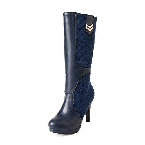 Thick Ornament Matching Soft Womens Boots Platform Color Bottom Blue A Metal Heel Material amp;N vwzxXX