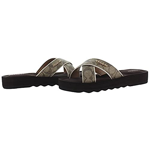 7bee90457 Coach Janine Women s Slide Strap Sandals Signature best - www.sissi ...