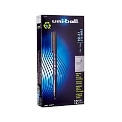 Fusion Roller Ball Pen - uni-ball ONYX Rollerball Pen, Micro Point (0.5mm), Black, 12 Count