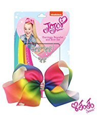 NEW Boutique JoJo Siwa Girls Black Rainbow Studded Hair Bow GORGEOUS $