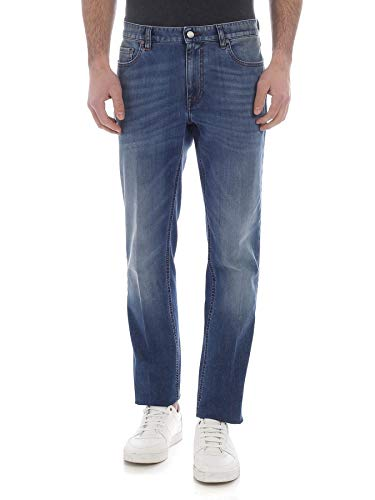 Z Zegna Men's Vs722zz500b05 Blue Cotton Jeans for sale  Delivered anywhere in USA