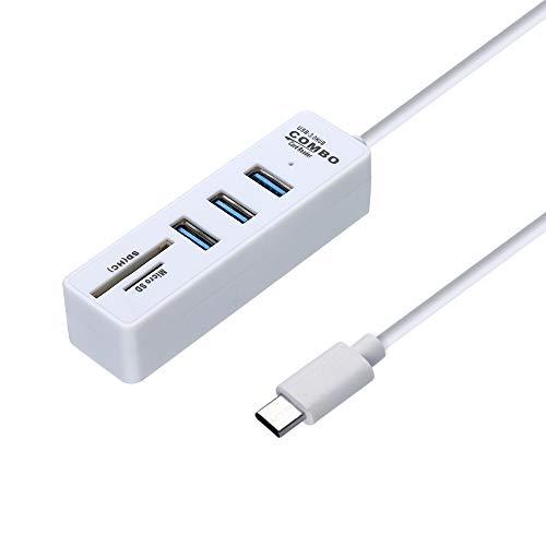 Usb 1 Combo Tb (Alimao 2 in 1 Type-C OTG USB 3.0 Hub Splitter Combo 3 Ports & SD/TF Card Reader)