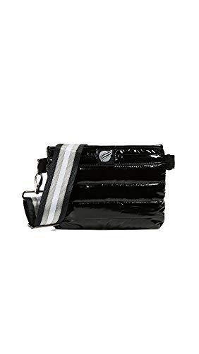 (Think Royln Women's Convertible Belt Crossbody Bag, Black Patent, One Size)