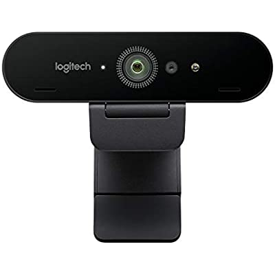Logitech Brio Ultra Pro Webcam  1080p 60fps Hyper-Fast Streaming  Wide Adjustable Field View  Zoom  Works with Skype  WebEx  Cisco Jabber  Zoom  Windows Hello  PC Mac Laptop Chrome Black