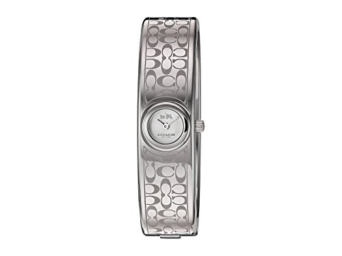 (COACH Women's Scout 16mm Iconic Mini Bangle Etched Signature C Stainless Steel Watch)