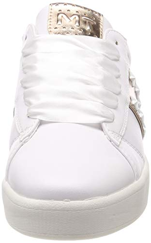 2 154 23708 Met rose Marco Tozzi Blanc Sneakers 2 32 Basses Femme white ZR1OBw7qEx