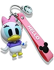 Pink keychains for woman Cartoon shapes