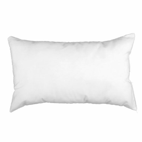 Famous Maker 12in x 20in Feather/Down Pillow Form White