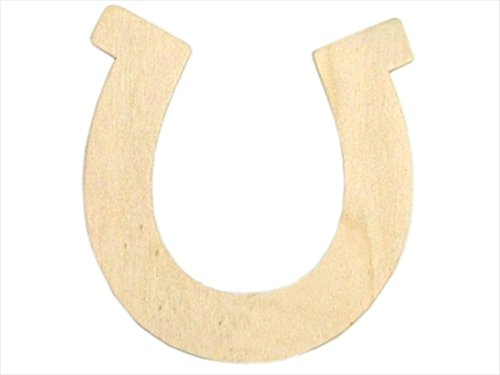Darice Floral Wood Shape Unfnshd - Horseshoe, 3.5 X 3.75 In., Pack Of -