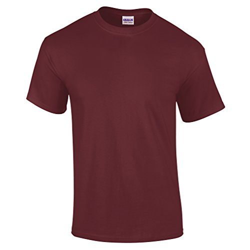 GILDAN - Camiseta - para hombre Granate